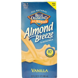 Blue Diamond, Almond Breeze, Almond Milk, Vanilla, 32 fl oz (946 ml) - iHerb.com
