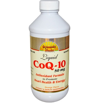 Dynamic Health  Laboratories, CoQ-10, Liquid, Orange Flavor, 50 mg, 8 fl oz (237 ml) - iHerb.com