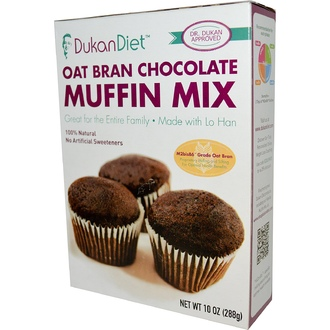 Dukan Diet, Oat Bran Chocolate Muffin Mix, 10 oz (288 g) - iHerb.com