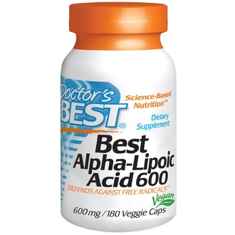 Doctor\'s Best, Best Alpha-Lipoic Acid, 600 mg, 180 Veggie Caps - iHerb.com
