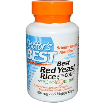 Doctor\'s Best, Best Red Yeast Rice, With CoQ10 and Cholesstrinol, 700 mg, 60 Veggie Caps - iHerb.com