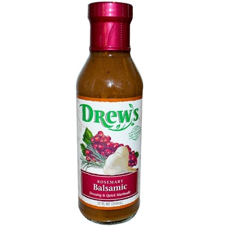 Drew\'s All Natural, Dressing & Quick Marinade, Rosemary Balsamic, 12 fl oz (354 ml) - iHerb.com