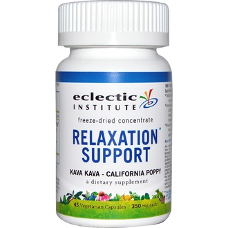 Eclectic Institute, Relaxation Support, Kava Kava - California Poppy, 350 mg, 45 Veggie Caps - iHerb.com
