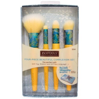EcoTools, Four-Piece Beautiful Complexion Set, 4 Brushes - iHerb.com