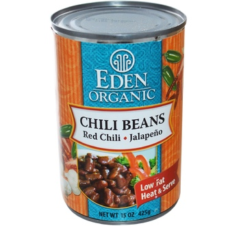 Eden Foods, Organic, Chili Beans, Red Chili, Jalapeno, 15 oz (425 g) - iHerb.com