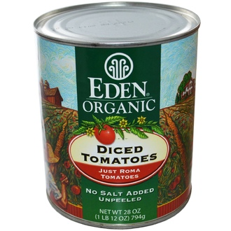 Eden Foods, Organic Diced Tomatoes, Just Roma Tomatoes, 28 oz (794 g) - iHerb.com