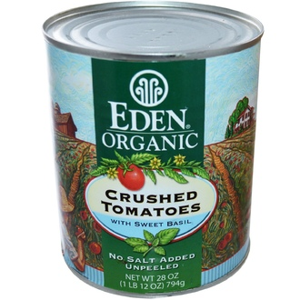 Eden Foods, Organic Crushed Tomatoes with Sweet Basil, 28 oz (794 g) - iHerb.com