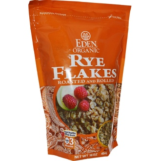 Eden Foods, Organic, Rye Flakes, Roasted and Rolled, 16 oz (454 g) - iHerb.com