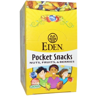 Eden Foods, Organic, Pocket Snacks, Spicy Pumpkin Dry Roasted Seeds, 12 Packages, 1 oz (28.3 g) Each - iHerb.com