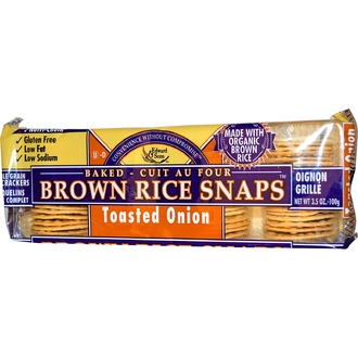 Edward & Sons, Baked Brown Rice Snaps, Toasted Onion, 3.5 oz (100 g) - iHerb.com