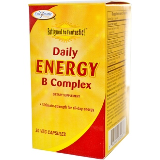 Enzymatic Therapy, Fatigued to Fantastic! Daily Energy B Complex, 30 Veggie Caps - iHerb.com