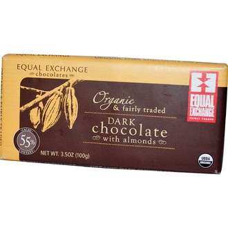 Equal Exchange, Organic Dark Chocolate with Almonds, 3.5 oz (100 g) - iHerb.com