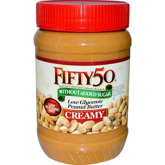 Fifty 50, Low Glycemic Peanut Butter, Creamy, 18 oz (510 g) - iHerb.com