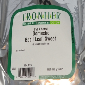 Frontier Natural Products, Cut & Sifted Domestic Basil Leaf, Sweet, 16 oz (453 g) - iHerb.com
