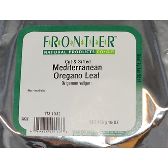 Frontier Natural Products, Cut & Sifted Mediterranean Oregano Leaf, 16 oz (453 g) - iHerb.com