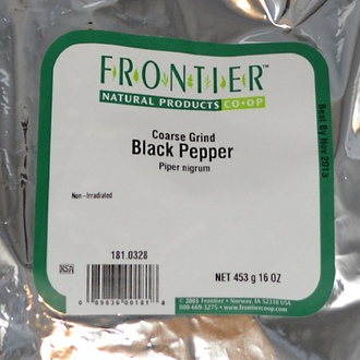 Frontier Natural Products, Coarse Grind Black Pepper, 16 oz (453 g) - iHerb.com
