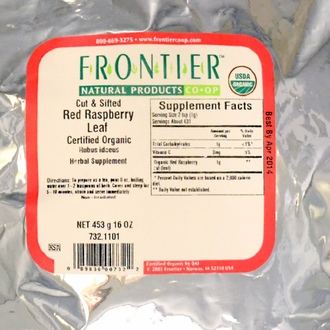 Frontier Natural Products, Organic Cut & Sifted Red Raspberry Leaf, 16 oz (453 g) - iHerb.com