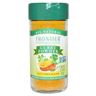 Frontier Natural Products, Curry Powder, Salt-Free Blend, 2.19 oz (62 g) - iHerb.com