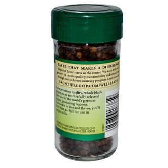 Frontier Natural Products, Black Peppercorns, Whole, 2.08 oz (58 g) - iHerb.com
