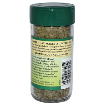 Frontier Natural Products, Sweet Basil, Leaf Flakes, 0.48 oz (13 g) - iHerb.com