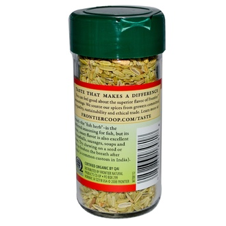 Frontier Natural Products, Organic Fennel Seed, Whole, 1.27 oz (36 g) - iHerb.com