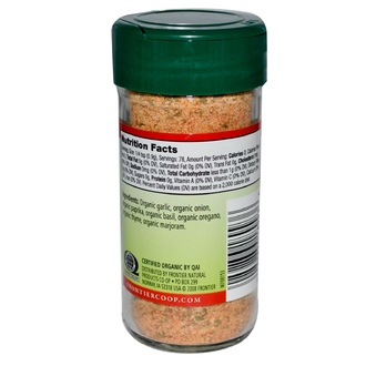 Frontier Natural Products, Organic Garlic Bread Seasoning, Salt-Free Blend, 2.47 oz (70 g) - iHerb.com