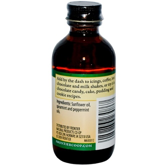 Frontier Natural Products, Mint Flavor, Alcohol-Free, 2 fl oz (59 ml) - iHerb.com