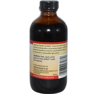Frontier Natural Products, Organic Fair Trade Vanilla Extract, Farm Grown , 8 fl oz (236 ml) - iHerb.com