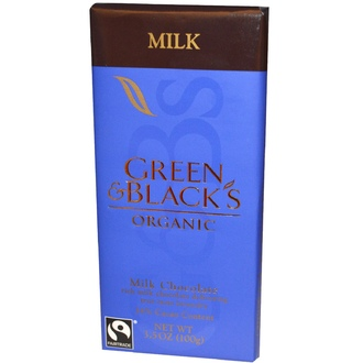 Green & Black\'s Chocolate, Organic Milk Chocolate, 10 Bars, 3.5 oz (100 g) Each - iHerb.com