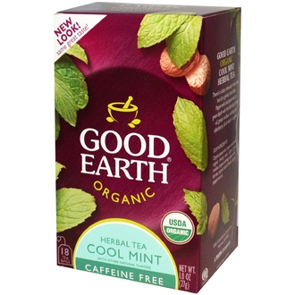 Good Earth Teas, Organic Herbal Tea, Cool Mint, Caffeine Free, 18 Tea Bags, 1.0 oz (27 g) - iHerb.com
