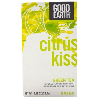 Good Earth Teas, Citrus Kiss Green Tea, 18 Tea Bags, 1.18 oz (33.4 g) - iHerb.com