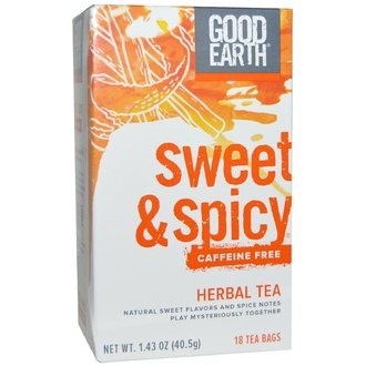 Good Earth Teas, Sweet & Spicy Herbal Tea, Caffeine Free, 18 Tea Bags, 1.43 oz (40.5 g) - iHerb.com