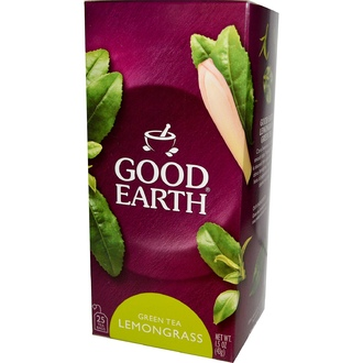 Good Earth Teas, Green Tea, Lemongrass, 25 Tea Bags, 1.5 oz (43 g) - iHerb.com