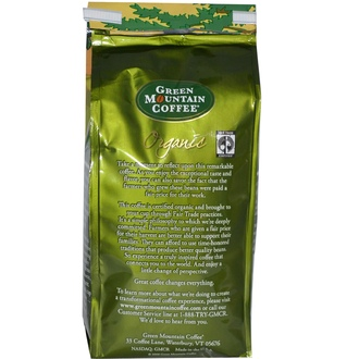 Green Mountain Coffee, Organic Whole Bean, Rain Forest Blend, Regular, Dark Roast, 10 oz (283 g) - iHerb.com