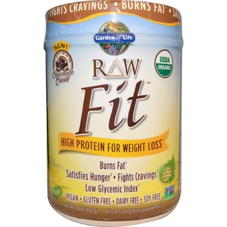 Garden of Life, Organic,RAW Fit, High Protein for Weight Loss, Chocolate Cacao, 1 lb (450 g) - iHerb.com