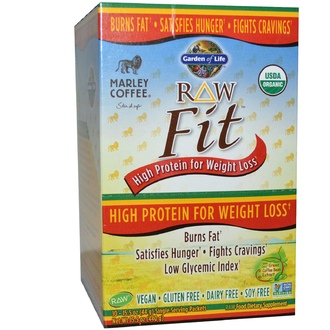 Garden of Life, Organic, RAW Fit, High Protein for Weight Loss, Marley Coffee Flavor, 10 Packets, 15.5 oz (44 g) Each - iHerb.com