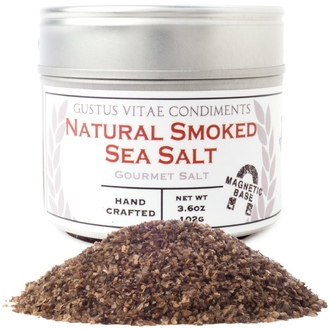 Gustus Vitae, Condiments,  Gourmet Salt, Natural Smoked Sea Salt, 3.6 oz (102 g) - iHerb.com