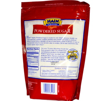 Hain Pure Foods, Organic Powdered Sugar, 16 oz (453 g) - iHerb.com