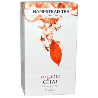 Hampstead Tea, Organic Chai, Indian Spice Tea, 25 Sachets, 1.75 oz (50 g) - iHerb.com