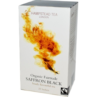 Hampstead Tea, Organic Fairtrade Saffron Black, 25 Sachets, 1.75 oz (50 g) - iHerb.com