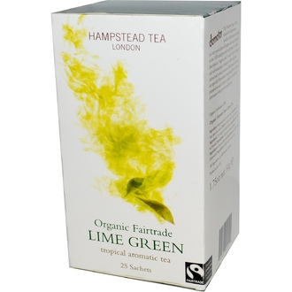 Hampstead Tea, Organic Fairtrade Lime Green, 25 Sachets, 1.75 oz (50 g) - iHerb.com