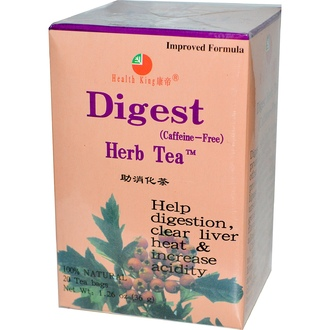 Health King, Digest Herb Tea, Caffeine Free, 20 Tea Bags, 1.26 oz (36 g) - iHerb.com