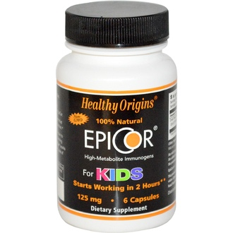 Healthy Origins, EpiCor для детей, 125 мг, 6 капсул - iHerb.com