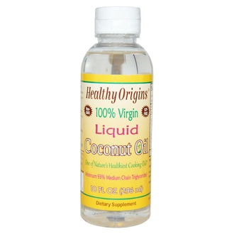 Healthy Origins, Coconut Oil, 100% Virgin, Liquid, 10 fl oz (296 ml) - iHerb.com