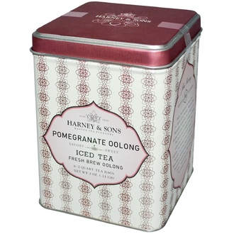 Harney & Sons, Iced Tea, Fresh Brew Oolong, Pomegranate Oolong, 6 - 2 Quart Tea Bags, 3 oz - iHerb.com