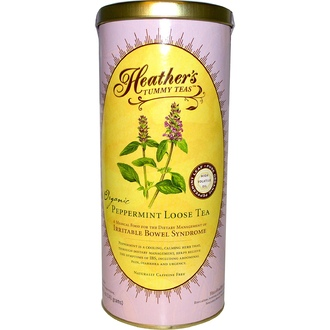 Heather\'s Tummy Care, Tummy Teas, Organic Peppermint Loose Tea, Caffeine Free, 5 oz (141 g) - iHerb.com
