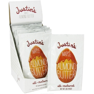 Justin\'s Nut Butter, Maple Almond Butter, 10 Squeeze Packs, 1.15 oz (32 g) Each - iHerb.com
