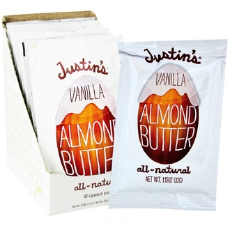 Justin\'s Nut Butter, Vanilla Almond Butter, 10 Squeeze Packs, 1.15 oz (32 g) Each - iHerb.com