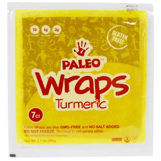 The Julian Bakery, Paleo Wraps, Turmeric, 7 Wraps, 3.5 oz (98 g) - iHerb.com