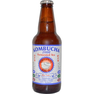 Kombucha 2000, Fermented Tea, Original Brew, Elixir Tonic, 12 fl oz (355 ml) - iHerb.com